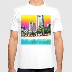 Waikiki Beach II Mens Fitted Tee White MEDIUM