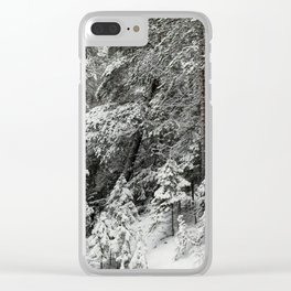 After the snowfall in the taiga forest Clear iPhone Case