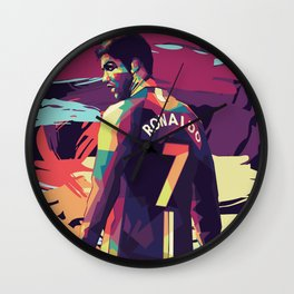 Ronaldo on WPAP Pop Art Portrait Wall Clock