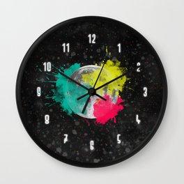 Moon + Neon Wall Clock