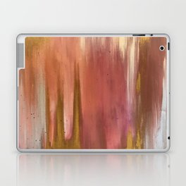 Blush with Gold Abstract Laptop & iPad Skin
