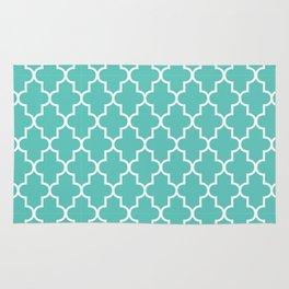 Moroccan - Turquoise Rug