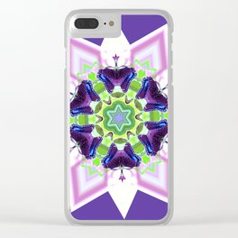 Butterfly Star Clear iPhone Case