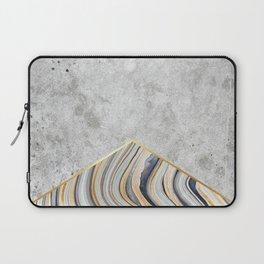Concrete Arrow - Blue Marble #177 Laptop Sleeve