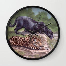 Jaguars Painting Wall Clock