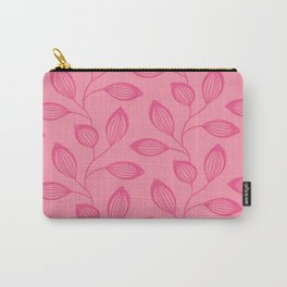 Climbing Leaves In Rose Pink On Blossom Pink Carry-All Pouch