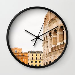 Colosseum - Rome Italy Architecture, Travel Photography Wall Clock