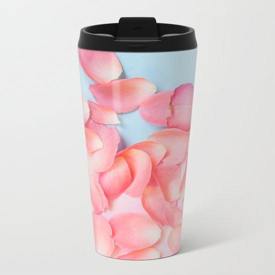 Rose petals Metal Travel Mug