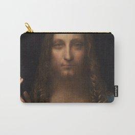 Salvatore Mundi by Leonardo Da Vinci (or Boltraffio) Artwork For Prints, Posters, Tshirts, Men, Wome Carry-All Pouch