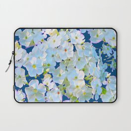 DELICATE TEAL & WHITE LACE FLORAL GARDEN Laptop Sleeve