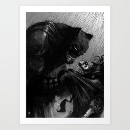 Bat & Joke Art Print