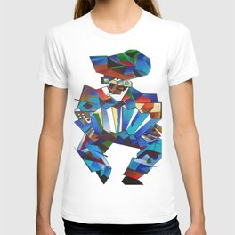 Accordion Player In Cubist Style T-shirt