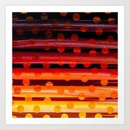 Sunset Polka Dots Art Print