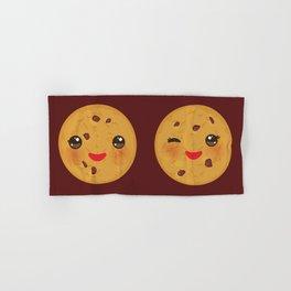 Kawaii Chocolate chip cookie Hand & Bath Towel
