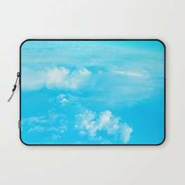 Aerial Turquoise Clouds Laptop Sleeve