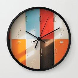 Retro Lockers Wall Clock