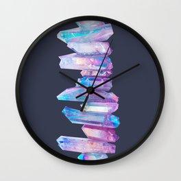 Ultraviolet Aura Crystals Wall Clock