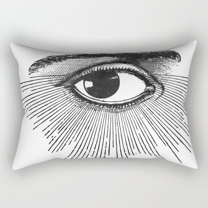 I See You. Black and White Rectangular Pillow