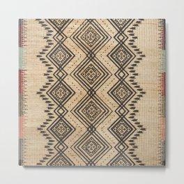 N105 - Traditional Bohemian Oriental African Moroccan Style Design. Metal Print