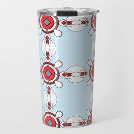 The geometric texture. Abstract geometric ornaments. Travel Mug