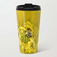 Rainy Day Cactus Flower Bee Travel Mug