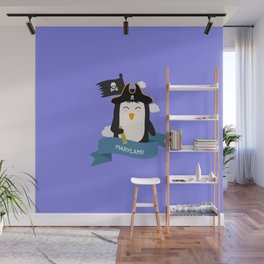 Penguin Pirate Captain from MARYLAND  T-Shirt Wall Mural