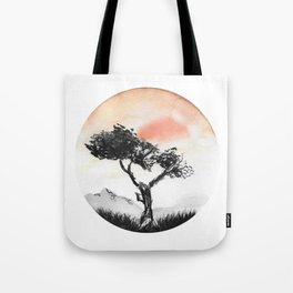 Orange Desert Tote Bag