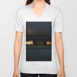 Exit this side Unisex V-Neck