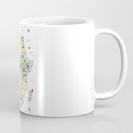 Animal Map of Africa for children and kids Coffee Mug