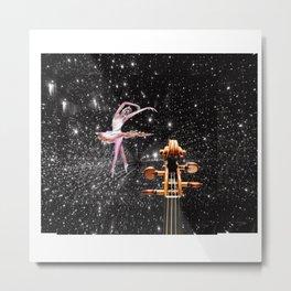 Violin and Ballet Dancer number 1 Metal Print