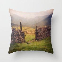 Ben Nevis Mountian range Throw Pillow
