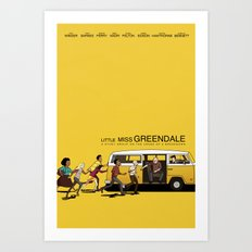 LITTLE MISS GREENDALE Art Print