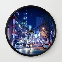 Night lights Wall Clock