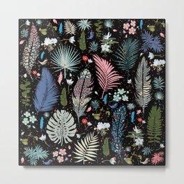 Fairy Tale Magic Garden Pattern Metal Print