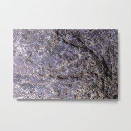 Lava Stone Texture Metal Print