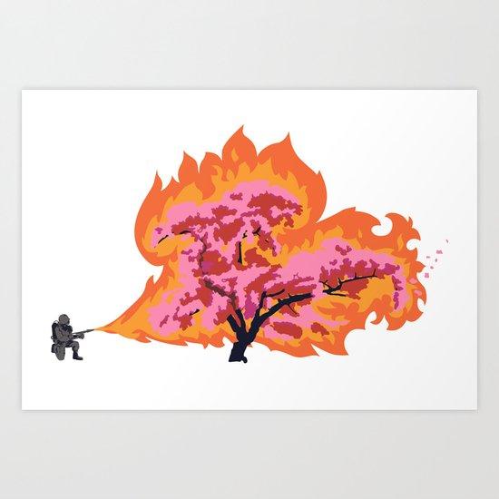 Allergy Season: Flamethrower Art Print