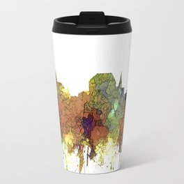 Augusta, Maine Skyline - SG - Safari Buff Travel Mug