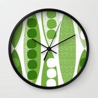 mod Wall Clocks featuring Mod Pod by Alex Morgan