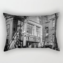 The industrial sweet look of the Borough Market in Londen | Black & White Photography | Travel & Street Photography | Photo Print | Art Print Rectangular Pillow