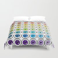 pantone Duvet Covers featuring Pantone Eyes  by Gabriel J Galvan