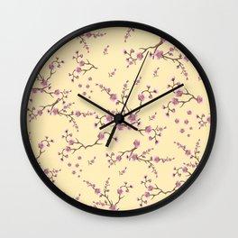 SAKURA LOVE - VANILLA Wall Clock