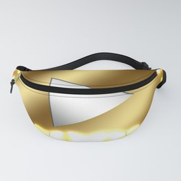 Gold video play button! The glowing butterflies are beautiful. Fanny Pack