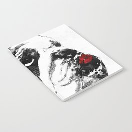 Bulldog Pop Art - How Bout A Kiss 2 - By Sharon Cummings Notebook