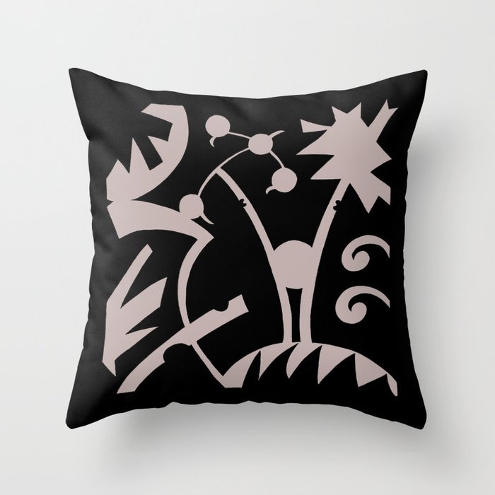 Abstract Jungle Throw Pillow