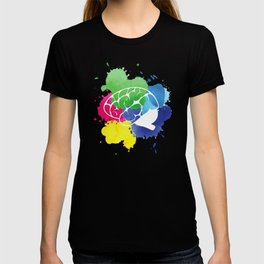 School Psychologist with Brain T-shirt