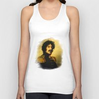 replaceface Tank Tops featuring Frank Zappa - replaceface by replaceface