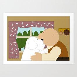 Good friend Art Print