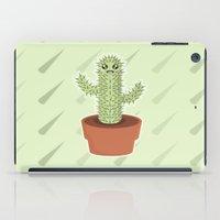 kawaii iPad Cases featuring Kawaii Cactus by Nir P