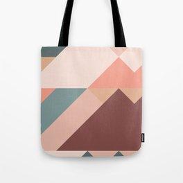 Geometric Mountains 01 Tote Bag