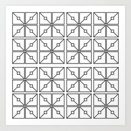 Boxy Tiles Art Print